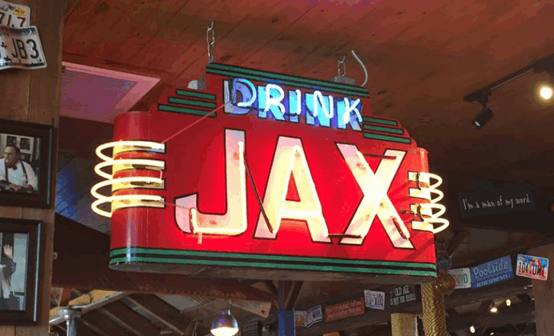 Drink Jax neon sign